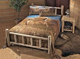 Wood Log Bed Frame Castlecreek Cedar Log Bed King Kitchen Dining