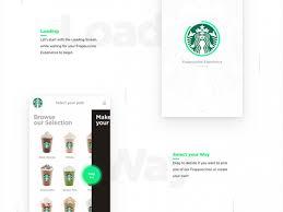 starbucks sketch ios app design concept freebiesbug
