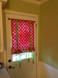 Window Treatments For Small Windows by Splendid Small Door Window Curtains With Red Skylight Blinds