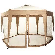 Patio Umbrella Mosquito Net Walmart Bliss Hammocks 13 Ft Hexagon Gazebo With Mosquito Netting