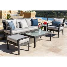 Curved Modular Outdoor Seating by Belmont 8 Piece Modular Seating Set
