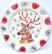 christmas plate painted personalised christmas plate and mug gifts