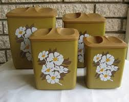 Retro Canisters Kitchen Vintage Kitchen Canisters Etsy