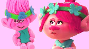 how to make play doh princess poppy from trolls trolls