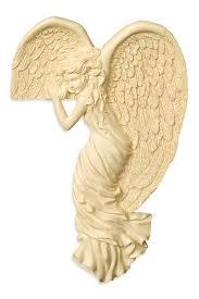 angel watching right corner angel sculpture