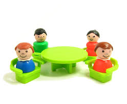 fisher price table chairs fisher price little people family set table chairs beds dog