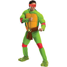 teenage male halloween costumes teenage mutant ninja turtles deluxe raphael costume