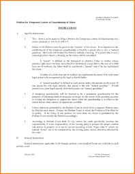 Guardian Covering Letter 10 Temporary Guardianship Letter For Travel Ledger Paper U2013 Cover