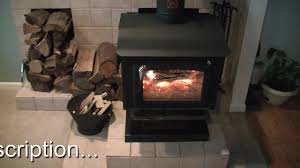 our wood stove burning operation and information youtube