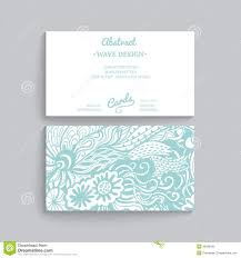 Simple Business Cards Templates Vector Simple Business Card Template With Decorative Ornament
