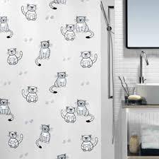 spirella gary garfield peva waterproof shower curtain swiss