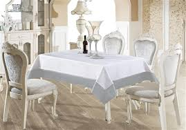 silver faux leather tablecloth