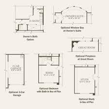 ranch floor plans with 3 car garage calla at alamo ranch in san antonio texas pulte