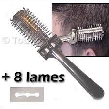 peigne coupe cheveux peigne rasoir pour cheveux à lame de