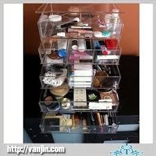 transparent acrylic nail polish perfume moisturizer organizer with