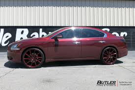 nissan maxima tire size nissan maxima with 22in vossen cvt wheels exclusively from butler