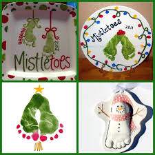 footprint mistle toes keepsake ideas christmas kid child baby