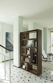 wood room dividers furniture brown wooden room divider bookshelves placed on grey