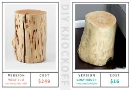 Log Side Table Diy Log Side Table Gray House Studio