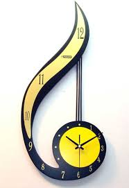 accessories unique modern wall clocks with note style for
