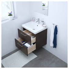 godmorgon odensvik sink cabinet with 2 drawers white stained