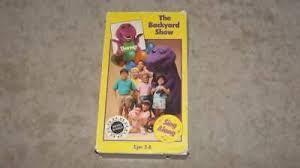 The Backyard Show Book Barney by Barney Vhs Zeppy Io