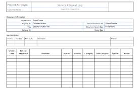 Service Request Template Excel Scope Templates Project Management Templates