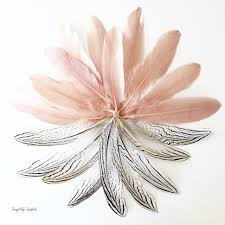 feather flower make a beutiful gold dipped feather garland frugal in fairfield