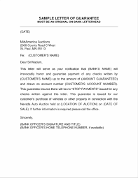 Legal Letters Templates Template Letter To Guarantor Legal Forms And Business Templates