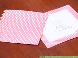 how to make a gift box out of a greeting card artprise ru the