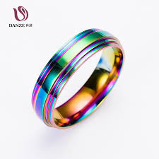 man steel rings images Danze fashion rainbow colorful stainless steel rings for man jpg