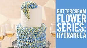 buttercream flowers the hydrangea youtube