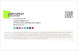 sample email signature a lovely email signature example using