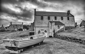 traditional wooden salmon coble portsoy boat shed