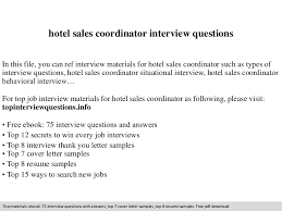 Sales Coordinator Sample Resume by Hotel Sales Coordinator Cover Letter