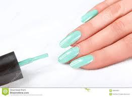 nail polish manicure beauty hands stylish colorful nails stock