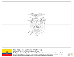 ecuador flag coloring page free printable coloring pages