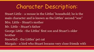 stuart little by e b white character description stuart little