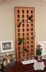 wooden wine bottle wall rack