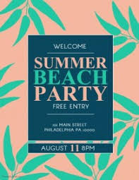customizable design templates for summer beach party postermywall
