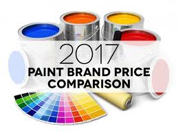 How Much Is A Gallon Of Benjamin Moore Interior Paint Paint Price Comparison 2017 Infographic Includes 22 Major Brands