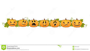 Decorative Halloween Pumpkins Halloween Pumpkin Line Decoration Royalty Free Stock Photography