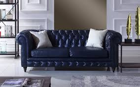 blue chesterfield sofa crawley leather chesterfield sofa sofamania com