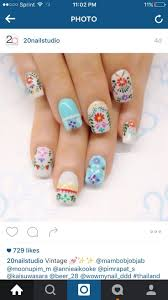 23 best embroidery nails images on pinterest make up embroidery