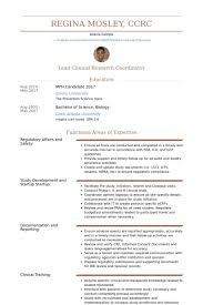 Logistic Coordinator Resume Sample by Clinical Research Coordinator Resume The Best Resume