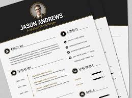 the elegant resume cv set template by daniel e graves dribbble