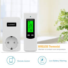 Radio Frequency Ac Thermostat Floureon Wireless Rf Plug In Thermostat Temperature Controller Ts