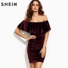 club dresses shein burgundy club dresses apparel ave