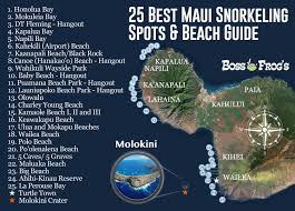 Maui Hawaii Map 25 Best Maui Snorkeling Spots U0026 Beach Guide Videos U0026 Photos