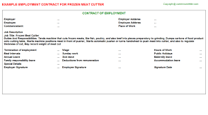 Meat Cutter Job Description Resume by Golden Corral Meat Cutter Employment Contracts